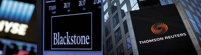 The return of megadeals: Blackstone buys Thomson Reuters' data unit for $17bn