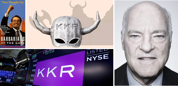 ALL TIME CLASSIC! KKR's first leveraged buyout battle ($25bn).  The fall of RJR Nabisco. Yes! Barbarians are really at thegate.